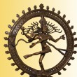 Indian hindu god Shiva Nataraja - Lord of Dance Statue isolated on white - Stock Photo