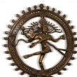 Indian hindu god Shiva Nataraja - Lord of Dance Statue isolated on white — Stock Photo #7875975