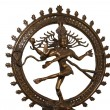 Indian hindu god Shiva Nataraja - Lord of Dance Statue isolated on white — Stock Photo
