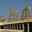 Inside of Meenakshi hindu temple in Madurai, South India - Foto de Stock