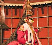 Kathakali tradional dance actor. Kochi (Cochin), India — Stock Photo