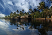House boat in the Kerala (India) Backwaters — Stock Photo
