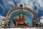 Traditional statues of gods and goddesses in the Hindu temple — Stock Photo