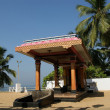 Traditional Hindu temple, South India, Kerala - Stock Photo