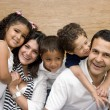 Beautiful family enjoying together — Stock Photo