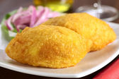 Peruvian Dish Called Papa Rellena — Stock Photo