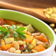 Vegetarian Canary Bean Soup — Stock Photo #6952321