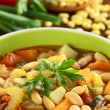 Vegetarian Canary Bean Soup - Stock Photo