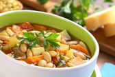 Vegetarian Canary Bean Soup — Stock Photo