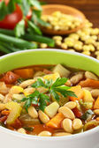 Vegetarian Canary Bean Soup — Stock Photo