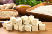 Raw Tofu in Dices — Stock Photo