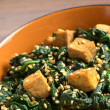 Tofu with Spinach and Sesame - Stock Photo