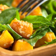 Pumpkin Spinach Salad - Stock Photo