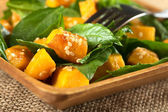 Pumpkin Spinach Salad — Stock Photo