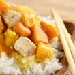 Chicken, Pumpkin and Sweet Potato Curry — Stock Photo