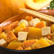 Tofu, Pumpkin and Sweet Potato Curry — Stock Photo