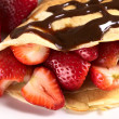 Royalty-Free Stock Photo: Crepe with Fresh Strawberries