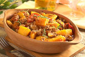 Pumpkin, Tomato, Mincemeat Dish — Stock Photo