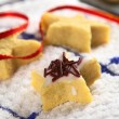 Star Shaped Cookie with Chocolate Sprinkles — Stock Photo