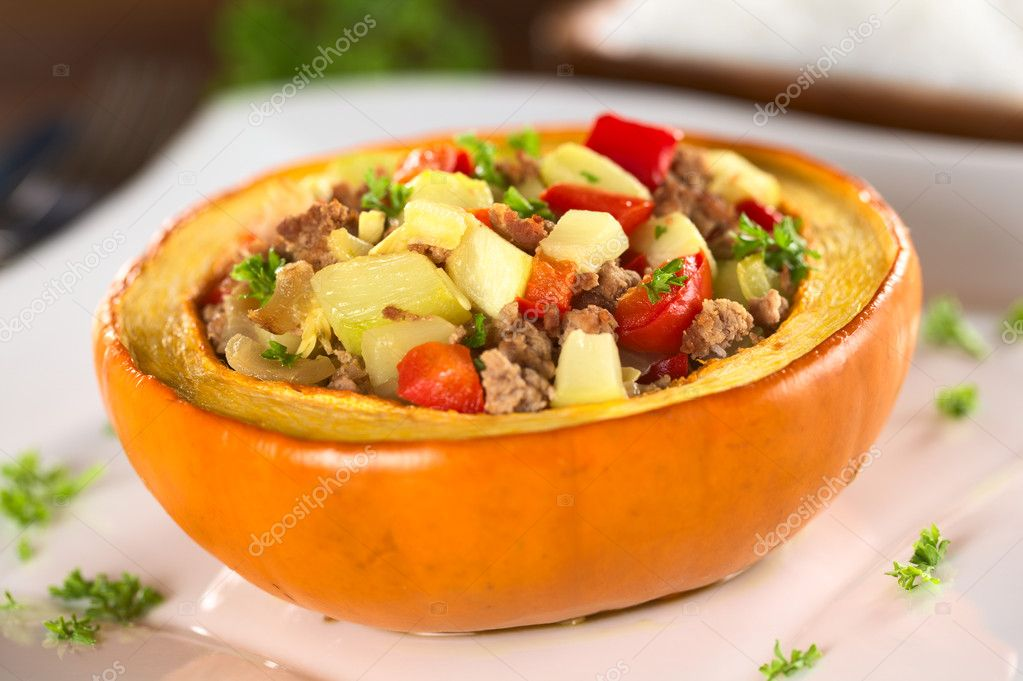 Рецепт тыква с овощами в духовке рецепт