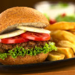 VegetariLentil Burger — Stock Photo #7932657