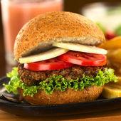 Vegetarian Lentil Burger — Stock Photo