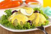 Peruvian Dish Called Papa a la Huancaina — Stock Photo