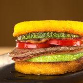 Polenta Burger — Stock Photo
