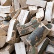 A pile of firewood. — Stock Photo
