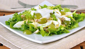 Light salad with yogurt — Stock Photo