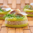 "Stock Photo: Appetizer of foie herring ""forshmak"""