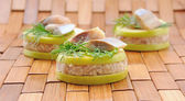 "Appetizer of foie herring ""forshmak"" — Stock Photo"