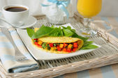 Omelete com legumes — Fotografia Stock