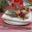 Table setting for Christmas and New Year — Stock Photo #7820871