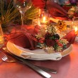 Stock Photo: Fragment table setting for Christmas and New Year