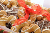 Biscuits of different shapes — Stock Photo