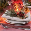 Napkin decorated for the Christmas and New Year's table - Foto Stock