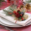 Napkin on a festive table — Stock Photo