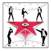 MJ's star — Stock Vector