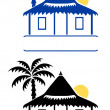 Bungalow signs — Stock Vector