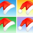 Red christmas hats — Stock Vector