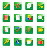 WWW accountant icons — Stock Vector