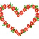 Poinsettia Heart — Stock Vector