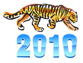 2010 year of tiger — Stock Vector
