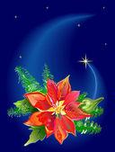Christmas Poinsettia — Stock Vector