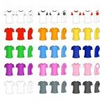Men's t-shirt templates — Stock Vector