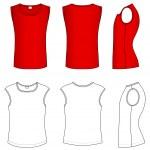 T-shirt vector illustration — Stock Vector