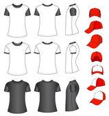 Shirts and baseball caps — Stock Vector