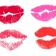 Collection print of lips — Stock Vector #6897799
