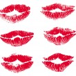 Collection print of lips — Stockvectorbeeld